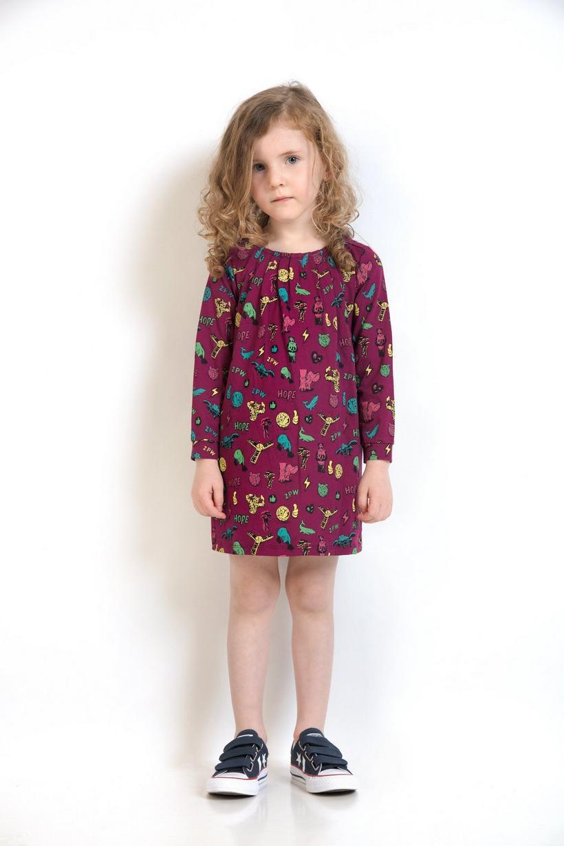 Purperen jurk met print - ZulupaPUWA - Unisex - Zulu Papuwa